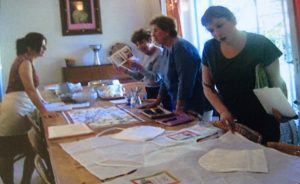Cooking class students from New York City in Italy