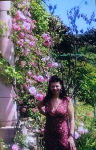 Roses at the Italian summer villa